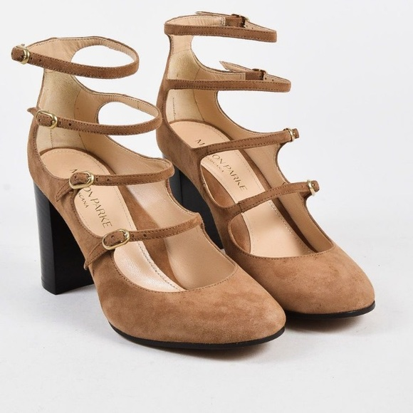 5b5a48dfd1b Comfy Marion Parke Kay Camel Mary Janes, Size 38